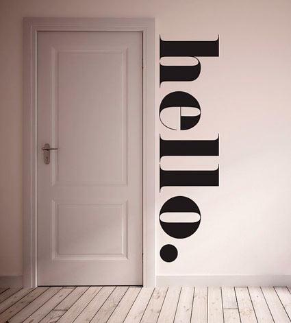 Vinilo Hello vía Pinterest